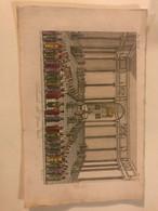Antica Stampa Settecentesca Acquarellata Rappresentante Il Tribunale Del Gran Visir '700 Litografia - Autres