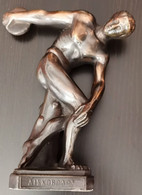 Bronze Figurine Olympic Discus Throw DISCOBOL X.E.M Figurine Statue Olympic Greek Discus - Atletismo