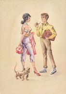 Teckel Dackel  Dachshund  Chien Hund Cane  Bassotto Old Postcard - Cani
