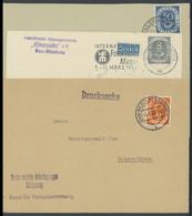 BUNDESREPUBLIK 126,127,132 BRIEF, 1954, 6, 8 Und 30 Pf. Posthorn, Je Als Einzelfrankatur, Pracht - Briefe U. Dokumente