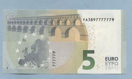 2013 5 Euros UNC Y004D2 N° YA 3897777779 - EURO