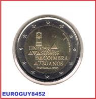 PORTUGAL - 2 € COM. 2020 UNC - 730 JARIG BESTAAN VAN DE UNIVERSITEIT VAN COIMBRA - Portugal