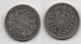 + ALLEMAGNE  + 1 MARK 1875 A + - [ 2] 1871-1918: Deutsches Kaiserreich