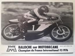 MOTO, BALOCHE Sur Motobecane, Champion De France International F3 , 1976, , Photo Sport - Photo, Nice ,TB - Motociclismo