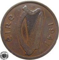 LaZooRo: Ireland 1/2 Penny 1941 VF - Ireland