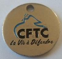 Jeton De Caddie - Syndicat - CFTC - La Vie à Défendre - En Métal - Neuf - - Trolley Token/Shopping Trolley Chip