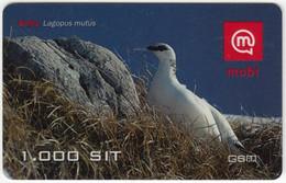 SLOVENIA B-419 Prepaid Mobi - Animal, Bird, Rock Ptarmigan - Used - Slovenia