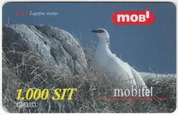SLOVENIA B-421 Prepaid Mobi - Animal, Bird, Rock Ptarmigan - Used - Slovenia