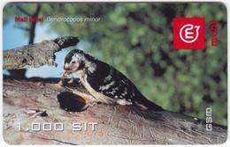 SLOVENIA B-436 Prepaid Mobi - Animal, Bird, Lesser Spotted Woodpecker - Used - Slovenia