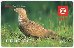 SLOVENIA B-444 Prepaid Mobi - Animal, Bird, Honey Buzzard - Used - Slovenia