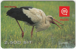 SLOVENIA B-469 Prepaid Mobi - Animal, Bird, White Stork - Used - Slovenia