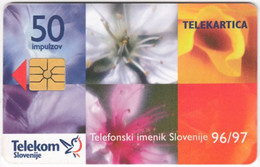 SLOVENIA B-556 Chip Telekom - Plant, Flower - Used - Slovenia