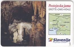 SLOVENIA B-587 Chip Telekom - Landscape, Cave - Used - Slovenia