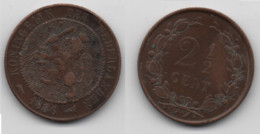 + PAYS BAS     + 2 1/2 CENT 1886 + - 2.5 Cent