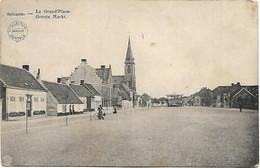 Selzaete - La Grand'Place - Groote Markt - Service Militaire Garde Civique 1914. - Zelzate
