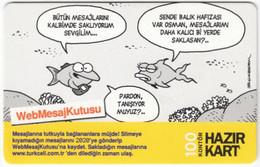 TURKEY B-481 Prepaid TurkCell - Comics - Used - Turquie
