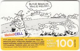 TURKEY B-495 Prepaid TurkCell - Comics - Used - Turquie