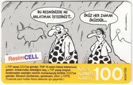 TURKEY B-521 Prepaid TurkCell - Comics - Used - Turquie