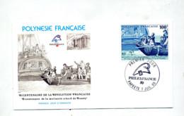 Lettre Fdc 1989 Philexfrance Mutinerie Bounty - FDC