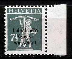 "Mi Nr 3 II - Dienst: Industrielle Kriegswirtschaft"" - MNH** - Kleurpuntje In Gom /point Coloré Dans Gomme - Cote 10,00 € - Oficial"