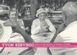 10x 15 Yvon Kervino  Expose Ses Photos  à Potiers   Avec Michel  Rocard  à La Fete De La Rose    Aventure Carto - Poitiers