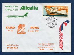 Egypte - Premier Vol - Roma - Cairo - Alitalia - 1980 - Vliegtuigen