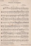 Partitions-PENSEE D'AUTOMNE Poésie D'A Silvestre, Musique De J Massenet - Scores & Partitions