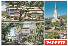 Océanie - Tahiti - PAPEETE - Multi Vues 3 Vues - La Cathédrale Et Centre Vaima - Cpm - Vierge - - Tahiti
