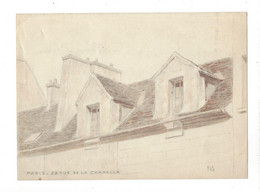 """Félix Boutron  1870 - 1949  """" Paris 28 Rue De La Chapelle """"  Dessin Original ( Vers 1929 ? ) Env. 16 X 21 Cm - Altre Collezioni"""