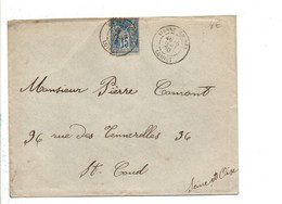 SAGE SUR LETTRE DE VIENNE EN VAL LOIRET 1900 - Storia Postale