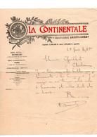 Courrier La Continentale Compagnie D'Assurances à Bruxelles En 1910 - Banca & Assicurazione