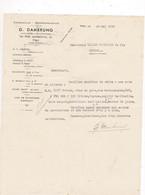 Courrier 1934, G. Dambrung, Représentant, 10 Rue Gambetta, Pau, à Lucien Foucauld & Cie Distillateur Cognac - Banca & Assicurazione