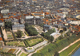 87 - Limoges - Vue Aérienne - Les Jardins De L'Evêché Et La Cathédrale - Limoges