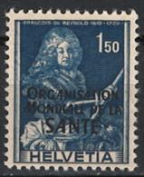 Schweiz Switzerland 1948. OMS/WHO Mi.-Nr. 21, Postfrisch **, MNH - Nuovi
