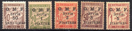 Col17  Colonie  Syrie Taxe N° 9 à 13 Neuf XX MNH  Cote 28,00€ - Postage Due