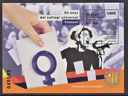 4.- SPANISH ANDORRA 2020 50 Years Of Female Universal Suffrage - Neufs