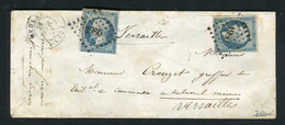 Rare Lettre De Melun Pour Versailles ( 1853 ) Avec Deux N° 10 Présidence - 1852 Louis-Napoléon