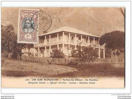CPA Iles Marquises Pavillon Des Officiers Ile Nukahiva - Polynésie Française