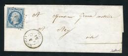 Rare Lettre De Couilly Pour Acy ( 1854 ) Avec Un N° 10 Présidence - 1852 Louis-Napoléon