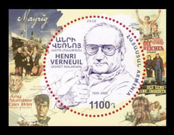 Armenia 2020 Mih. 1155 (Bl.102) Cinema. Playwright And Filmmaker Henri Verneuil MNH ** - Armenia