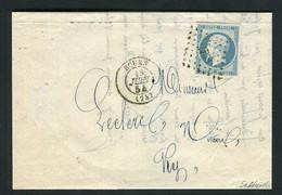 Rare Lettre De Rouen ( Juin 1854 ) Avec Un N° 10 Présidence - 1852 Louis-Napoléon