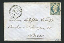 Rare Lettre De Draveil Pour Paris ( Août 1854 ) Avec Un N° 10 Présidence - Affranchissement Superfétatoire - 1852 Louis-Napoléon