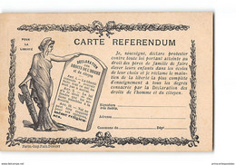 CPA Carte Referendum - Pour La Liberté - Declaration Des Droits De L'homme Et Du Citoyen - Politica
