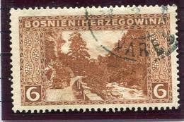 BOSNIA & HERZEGOVINA 1906 Landscape 6 H.  13½ Used.  Michel 33E - Bosnia And Herzegovina