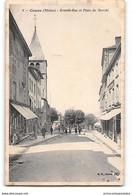 CPA 69 Cours Grande Rue Et Place Du Marché - Cours-la-Ville