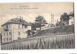 CPA Suisse Auvernier Hotel De La Gare Mme Galland Proprio - NE Neuchâtel