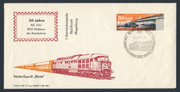 DDR Germany 1977 Brief Cover - 7. Betriebsfestspiele Rbd-Bezirk Magdeburg ( Reichsbahndirektion) / Company Festival Rbd - Trains
