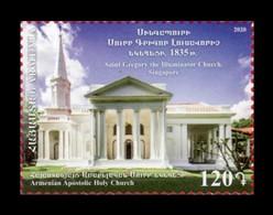 Armenia 2020 Mih. 1158 Armenian Church Of Saint Gregory The Illuminator In Singapore MNH ** - Armenia