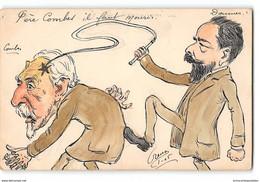 CPA Dessin Original Orens Père Combes Il Faut Mourir - Doumer - Satira