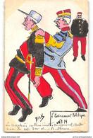 CPA Dessin De Dick Aquarellée Main Affaire Dreyfus L'evenement Politique N°14 - Satira